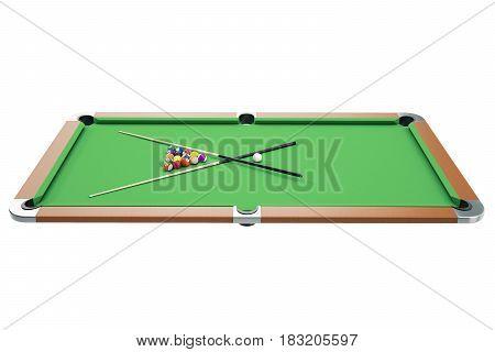 3D illustration American pool snooker balls background. American Billiard. Bar game. Billiard table game.