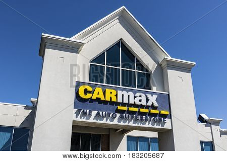 Indianapolis - Circa April 2017: CarMax Auto Dealership. CarMax is the Largest Used-Car Retailer in the US VIII