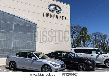 Indianapolis - Circa April 2017: Infiniti Car and SUV Dealership. Infiniti is the Luxury Vehicle Division of Nissan II