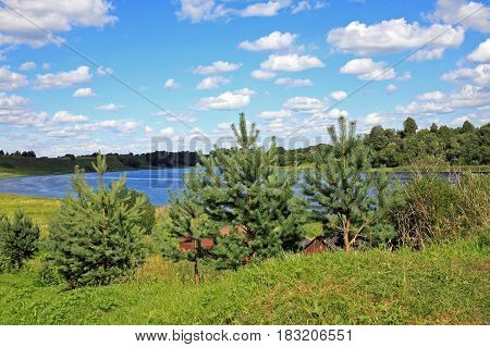 Volkhov River near Staraya Ladoga. Leningrad Oblast Russia