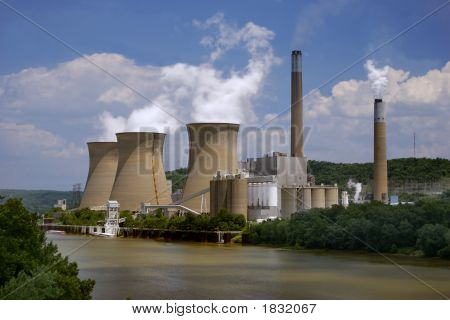 Nuclear Plant On The River