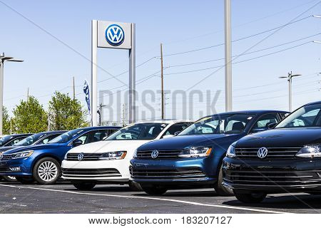 Indianapolis - Circa April 2017: Volkswagen Cars and SUV Dealership. VW is Among the World's Largest Car Manufacturers XI