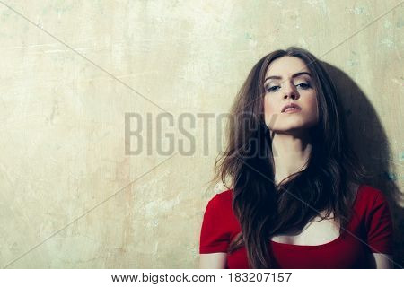 Pretty Girl With Long Blond Hair