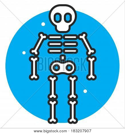 Skeleton human icon vector illustration design art
