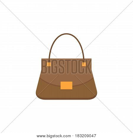 Woman bag flat icon, fashion, luxury vector graphics, a colorful solid pattern on a white background, eps 10.