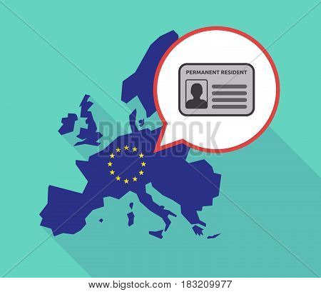 Long Shadow Eu Map With  A Green Card