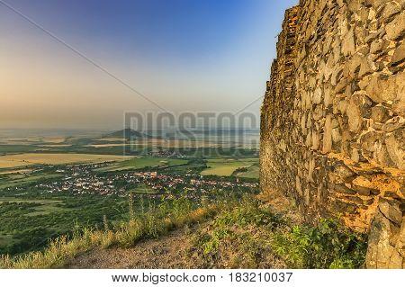 Summer view from the Ruins of Kostalov Castle/Czech Republic/