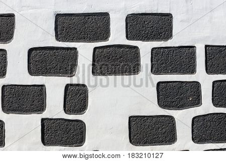 Typical Wall Made Seamless From Volcanic Stone, Lanzarote
