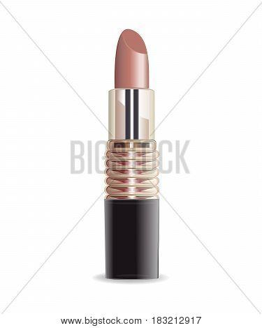 Lipstick set isolated on white background vector
