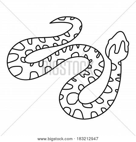 Spotted snake icon in outline style isolated on white background vector illustration