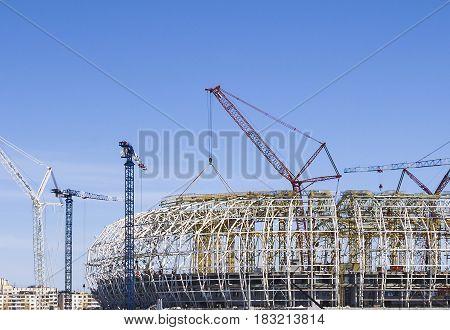 Construction Of A Football Stadium