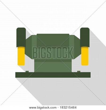 Metalworking machine icon. Flat illustration of vector icon for web on white background