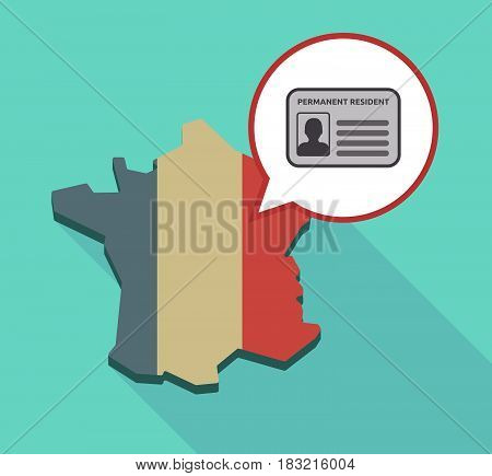 Long Shadow France Map With  A Green Card
