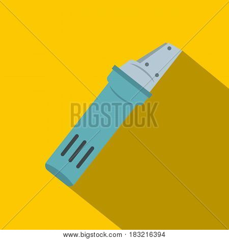 Glass cutter icon. Flat illustration of glass cutter vector icon for web on yellow background