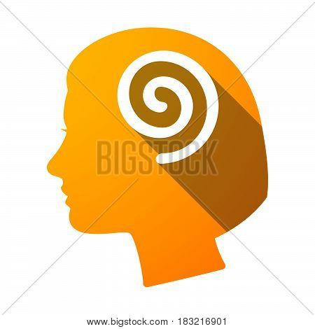 Isolated Female Head With  A Spiral