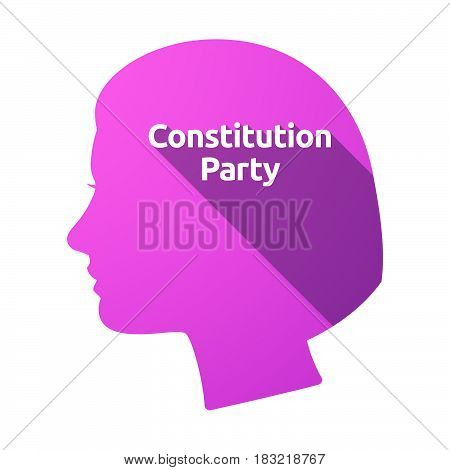 Isolated Female Head With  The Text Constitution Party