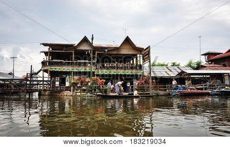 Intha Village On Inle Lake In Myanmar