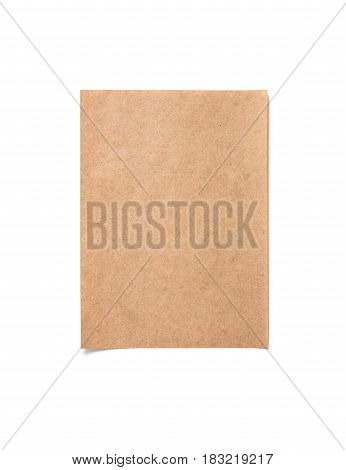 Vertically arranged blank recycled paper on white background