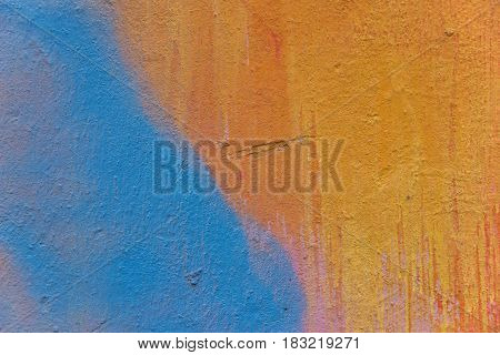 Multicolor grange texture. Abstractly painted concrete wall.