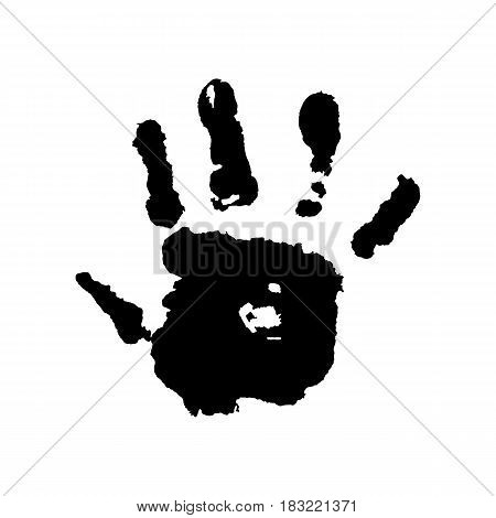 Human Hand On A White Background Vector