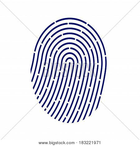 ID application icon. Fingerprint vector illustration isolated on white background