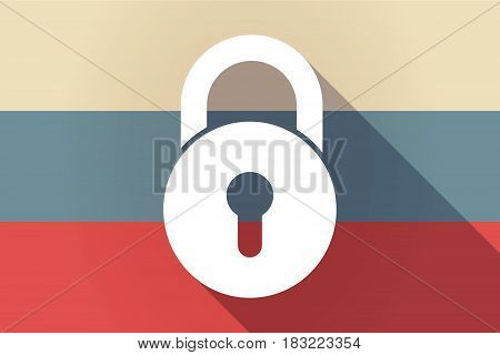 Ong Shadow Russia Flag With  A Closed Lock Pad