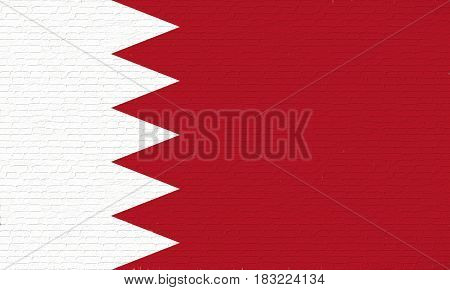 Flag Of Bahrain Wall.