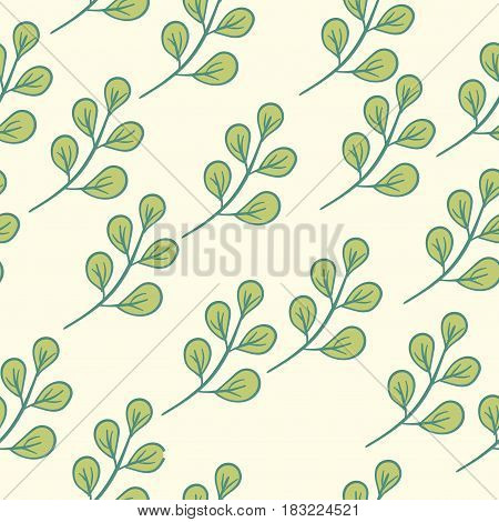 Seamless Floral Pattern Green