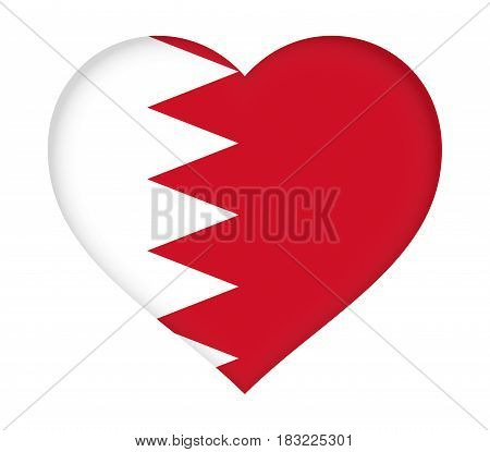 Flag Of Bahrain Heart.