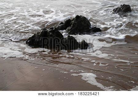 Azkorri Beach, Gorrondatxe, in Basque Country, Spain
