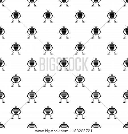 Humanoid robot pattern seamless in simple style vector illustration