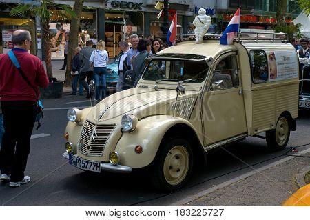 BERLIN - MAY 28: A small truck Citroen 2CV the exhibition
