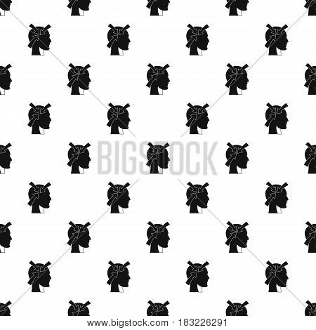 Head with arrows pattern seamless in simple style vector illustration