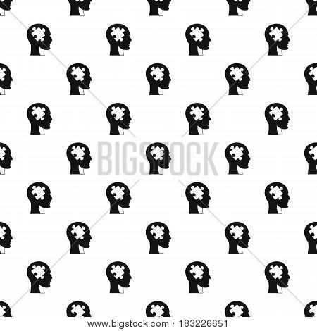 Head with puzzle pattern seamless in simple style vector illustration