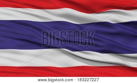 Closeup Thailand Flag, Waving in the Wind, High Resolution
