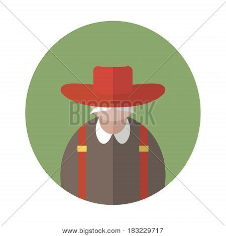Agrarian or agricultural farmer. People vector illustration or agriculture rural theme.