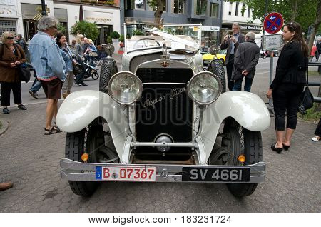 BERLIN - MAY 28: The Hispano-Suiza H6B Million-Guiet Dual-Cowl Phaeton 1924 the exhibition