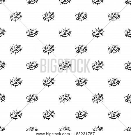 Bang, speech bubble explosion pattern seamless in simple style vector illustration