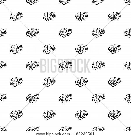 SMASH, comic book bubble text pattern seamless in simple style vector illustration