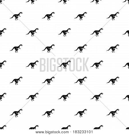 Theropod dinosaur pattern seamless in simple style vector illustration