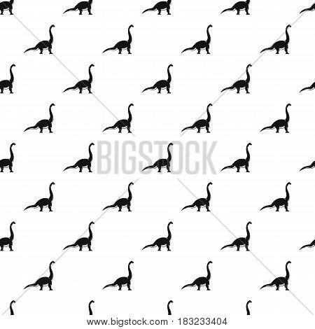 Brachiosaurus dinosaur pattern seamless in simple style vector illustration