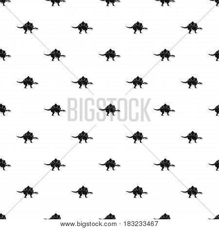 Stegosaurus dinosaur pattern seamless in simple style vector illustration