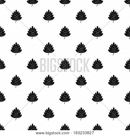 Hawthorn leaf pattern seamless in simple style vector illustration
