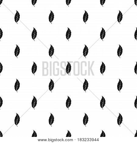 Narrow toothed leaf pattern seamless in simple style vector illustration