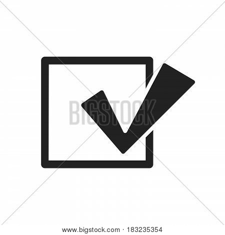 Check mark Icon Vector isolated on white .