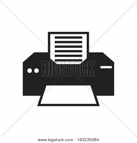 printer Icon Vector isolated on white .