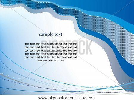 Elegance pattern of a presentation leaflet