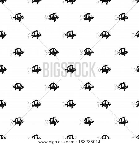 Perch pattern seamless in simple style vector illustration