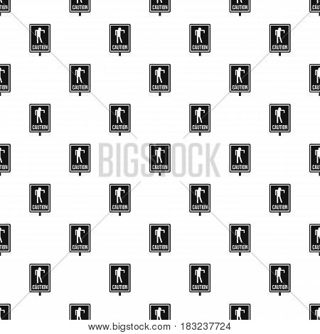 Zombie road sign pattern seamless in simple style vector illustration
