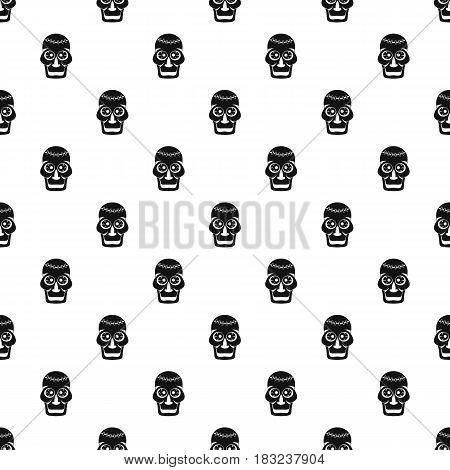 Skull pattern seamless in simple style vector illustration
